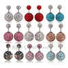 12mm Crystal Ball Earring Studs Double Ball Shamballa Earring