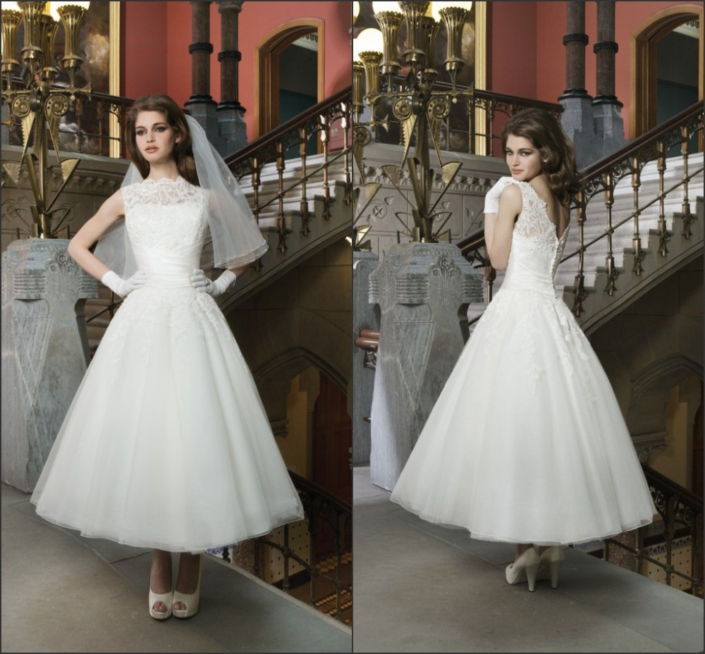 Popular Mid Length Wedding Dresses-Buy Cheap Mid Length
