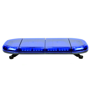 56W police ambulance roof magnetic led mini blue light bar