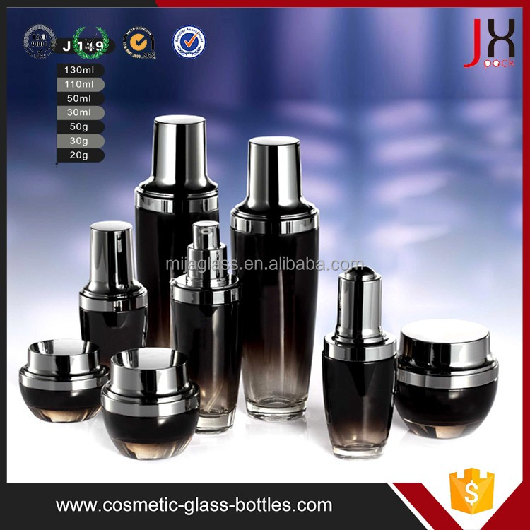 Wholesale 100ml Popular Lotion Pump Cosmetic Glass Bottles With <strong>Spray</strong> And Cap For Skin Care Cream