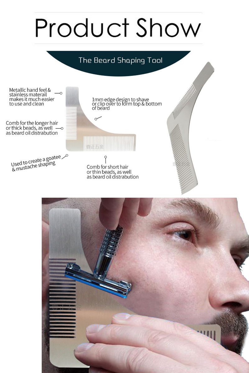 2017 new arrival the beard bro-beard comb facial hair shaping tool
