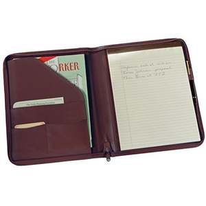Leather Zip Around Writing Padfolio A4 Leather Portfolio Folders