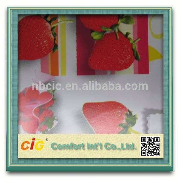 2014 Wholesale Fruit Design PVC/Vinyl Table Cloth Fabric