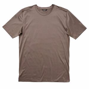 machine wash cold dry flat short sleeve straight hem crew neck luxury men mercerized cotton t-shirt