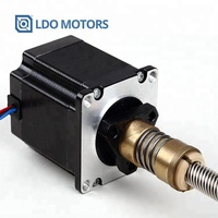China Manufacture Tr8x8 300mm length Leadscrew Nema 23 hybrid Non-captive linear actuators Stepper motor for Robotic Machine
