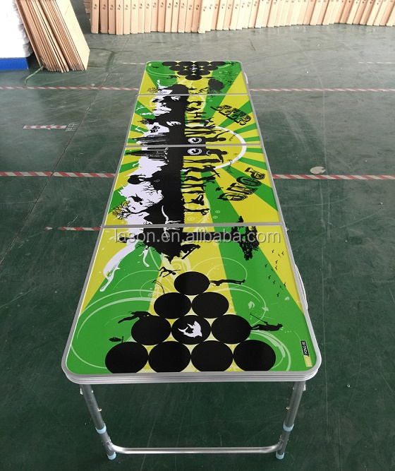 Good quality Costom printing 8ft folding beer pong table