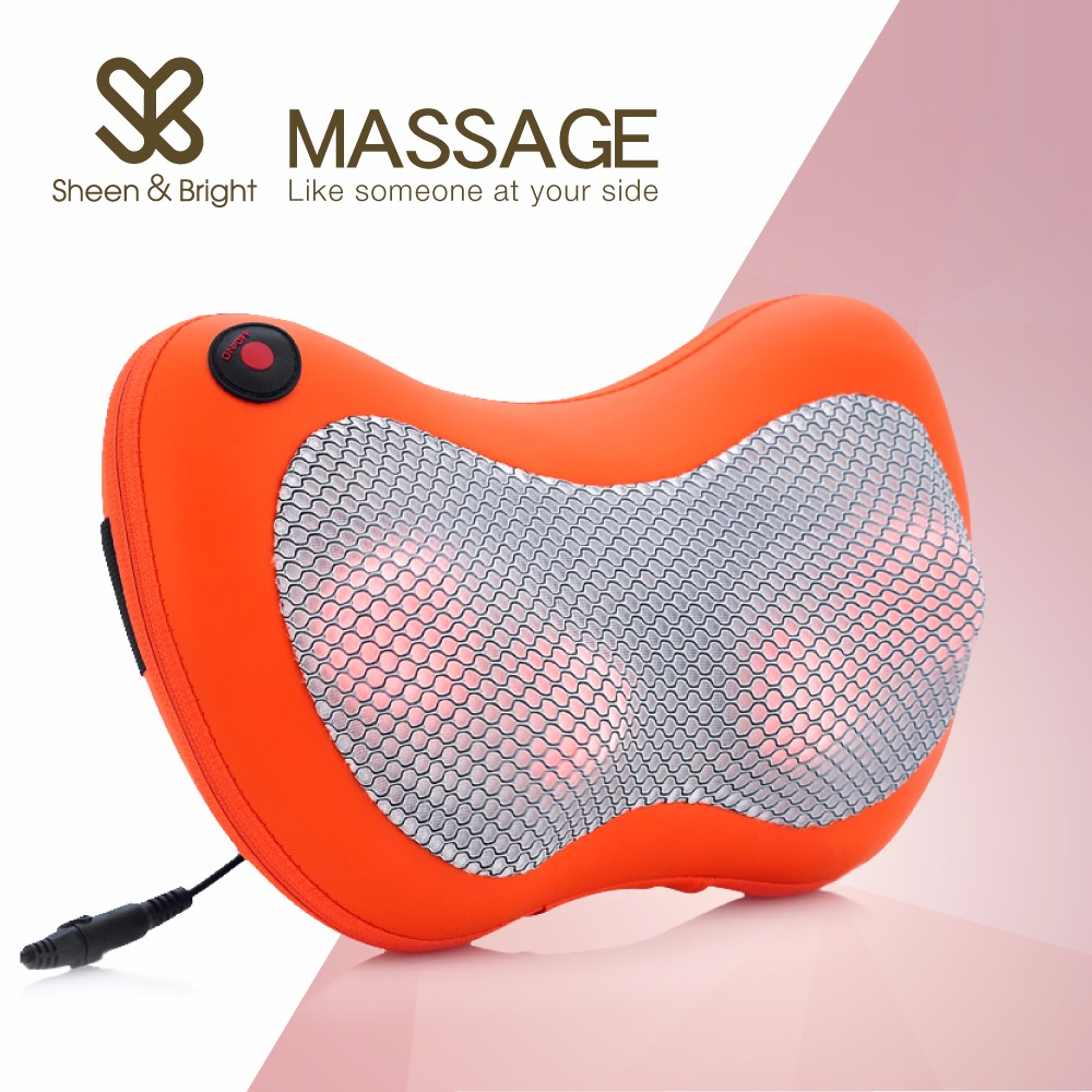 2017 Amazon Best Seller Heating Kneading Neck Shiatsu Massage Pillow