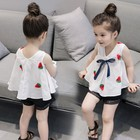 X84092B wholesale korean style summer kids clothes girls' clothing sets