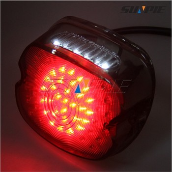 Red 12V 30W Aftermarket LED Tail Lamp Brake Light Replacement For Harley  Davidson Motorcycle Dyna FL