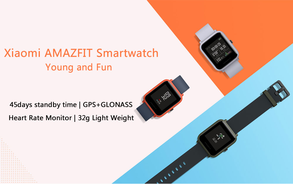 Original Xiaomi Huami Amazfit Youth Smart Bip Bit Face GPS Fitness Tacker Heart Rate Monitor IP68 Waterproof English Version (1)