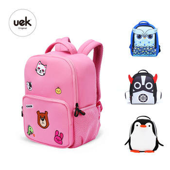d0a4353c2f88 Uek Kids Waterproof Lightweight Neoprene Primary Schoolbag Lovely Cartoon  Animal Kids Backpack. View larger image