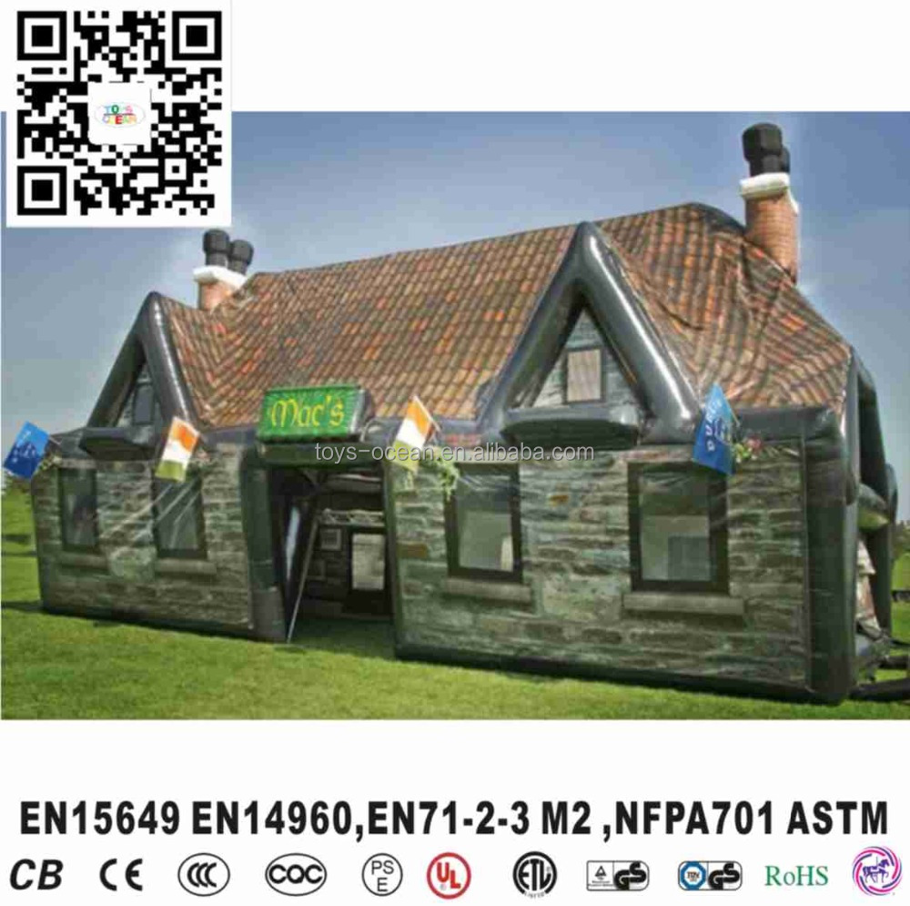 2016 Large outdoor PVC inflatable beer bar house tent for sale