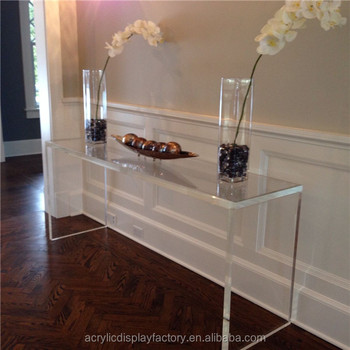 Clear Acrylic Home Large Console Table For Coffee