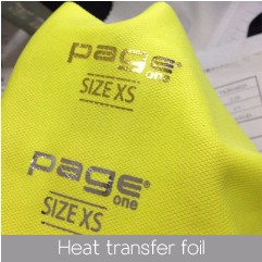Manufacturer custom design plastic heat transfer sticker label for garment