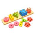 Baby Toys Geometric Assembling Blocks Montessori Teaching Toys Child Educational Gift Blocks