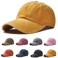 12 Colour Blank Washed Cotton Hat 6 Panel Dad Hat Baseball Cap for Women Men
