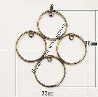 Gets.com brass hand tooled leather bracelet