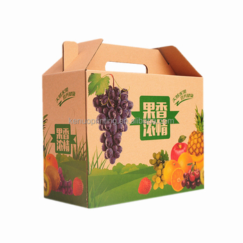 High Quality Corrugated Cardboard Vegetable Fruit Box Packaging Boxes