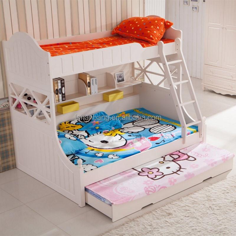 hotsale blanco pintado proveedor escuela litera triple cama muebles