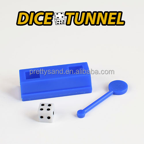 Mini magic trick and fun toy dice tunnel good for promotion giveaway gift