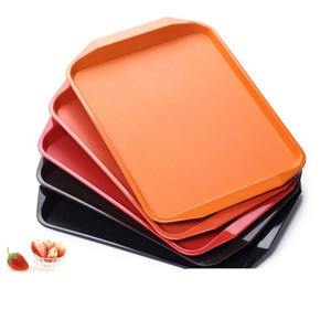 Square Long Plate Plastic Fast Food Tray Restaurant Serving Trays For Tea Cake Kitchen Bar
