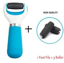 Velvet Foot Care Tool Electric Pedicure Machine ShoLleing File Set Skin Care Dead Foot Skin Remover +2 Roller Heads