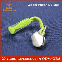 Hot sale pvc rope zipper puller for outdoor sport bags