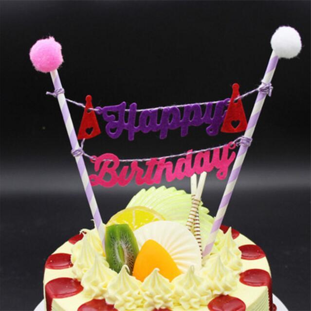 Happy Birthday Cake Topper Set For Kids Happy Birthday Party