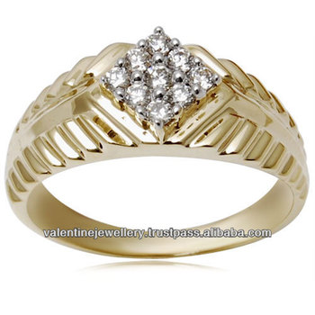 New Design Gold Finger Ring Gents Gold Ring Collection line