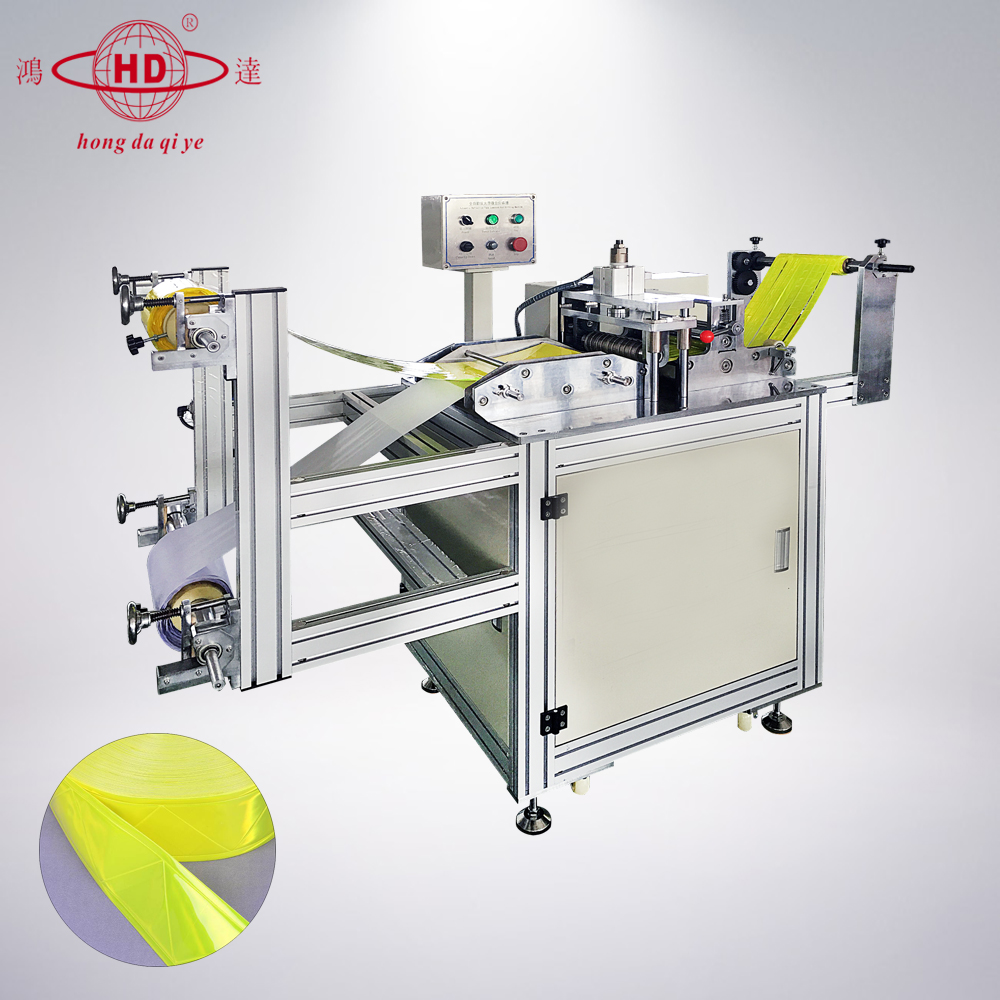 Ultrasone Reflecterende Tape Making Machine, Veiligheid Arm Been Vinyl Reflecterende Strip Riem Band Sticker Making Machine