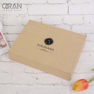 UV Coating Electrical Product Packing Square Rigid Brown Kraft Paper Box