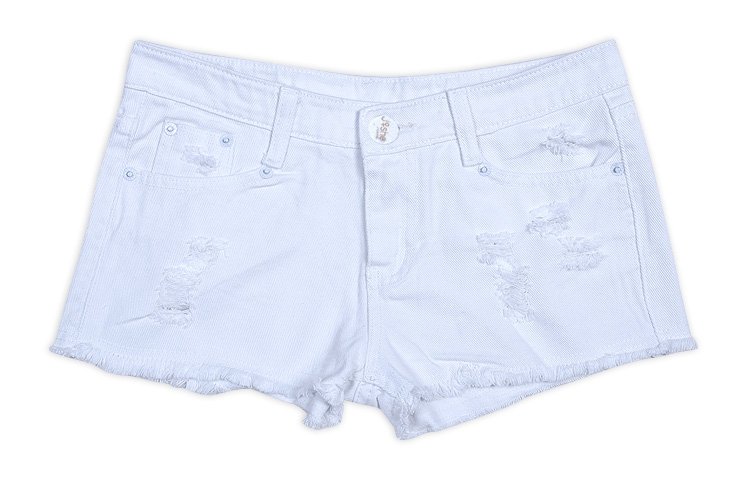 2898d078848 Get Quotations · 2015 New Summer Women Plus Size Candy Color Ripped Denim  Shorts All-match Low Waist