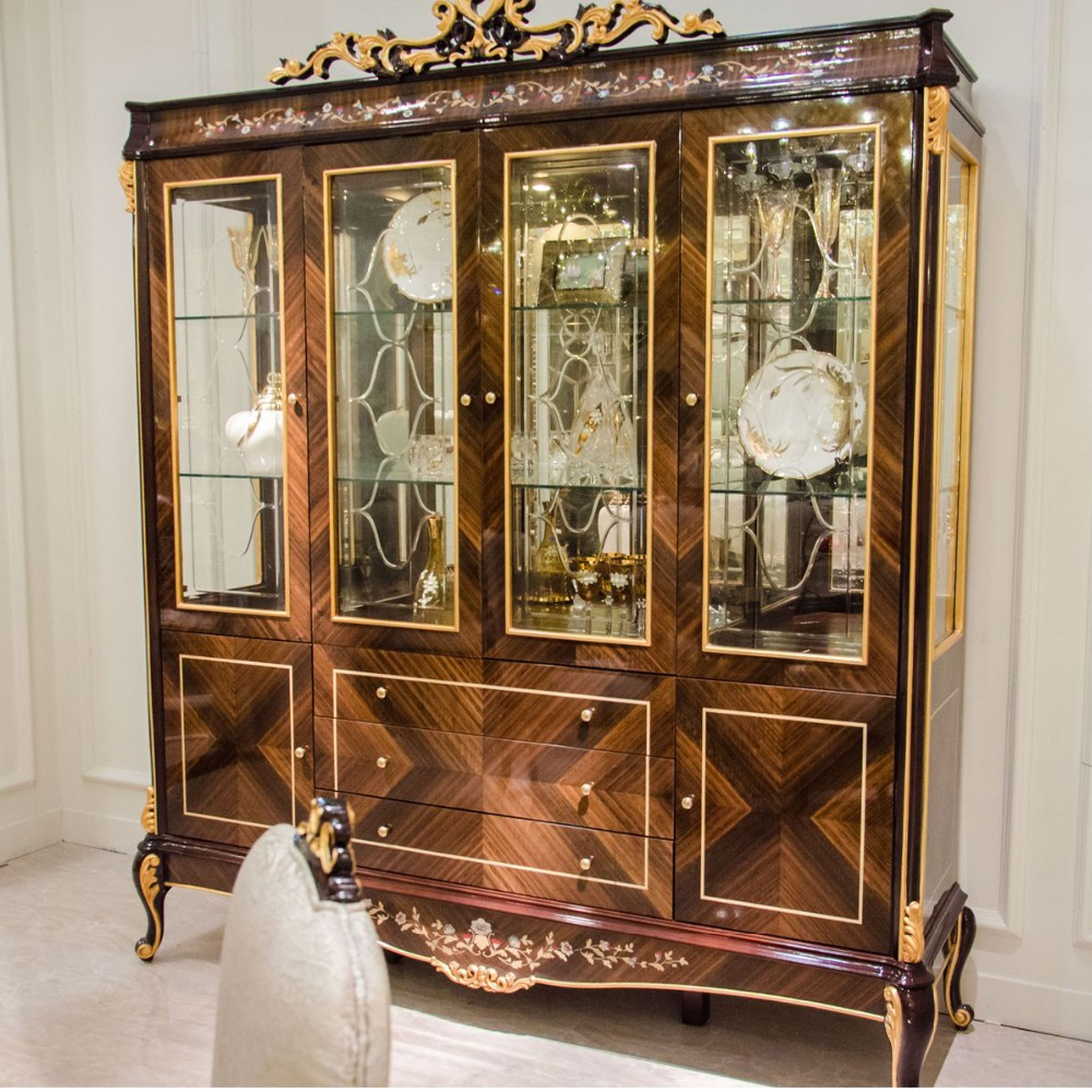 1antique Solid Wood Display Cabinet