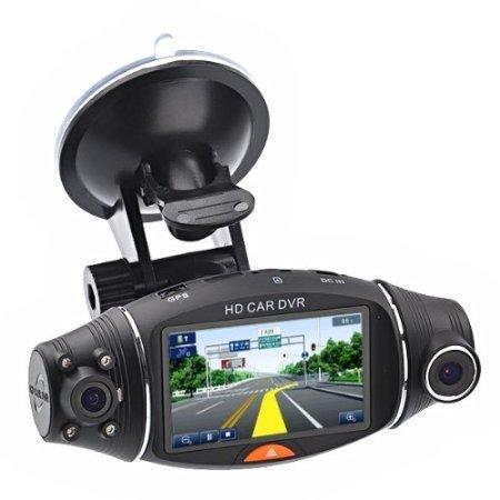 R310 Dual Lens Dash Cam HD Car DVR Video Recorder Car DVRS Camera G sensor GPS