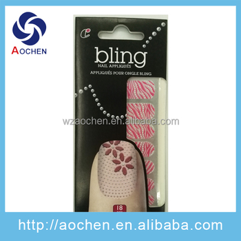 Fashion Self-Adhesive Flower 3D Red Nail Sticker