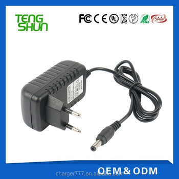 cheap high-quality 12v 2a ce fcc ul saa wall mount cctv power supply cctv cameras12v 2amp