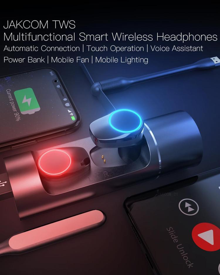 JAKCOM TWS Multifunctional Smart Wireless Headphones New Product Of mobiles wireless headphones with Mobile Fan Mobile Lighting