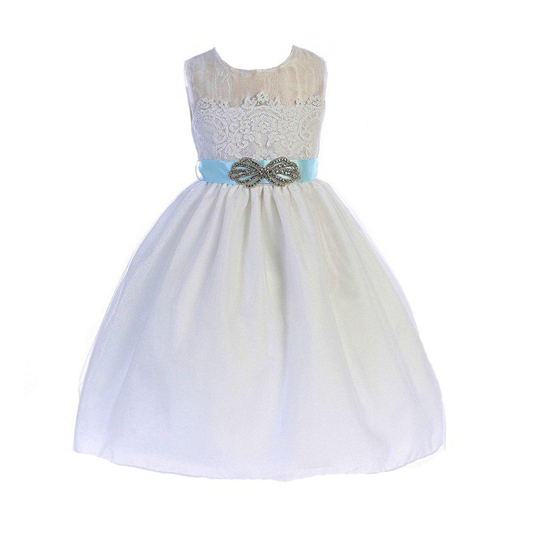 Cheap blue lace flower girl dress find blue lace flower girl dress get quotations crayon kids little girls white blue brooch lace flower girl dress 2t 6 izmirmasajfo