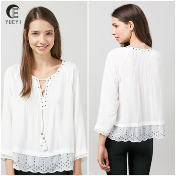 c069384f supply wholesale ladies linen blouse clothing women white tops and blouses