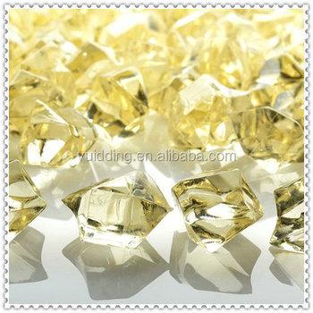 Brightly Champagne Crystal Ice Rocks Filler Acrylic Vase Gems Buy