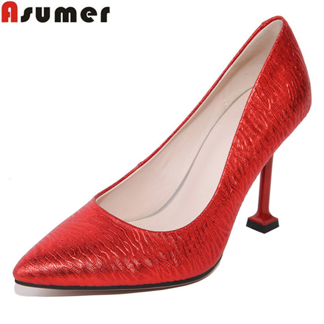 1 shoes fashion high DX spring heels pumps pointed Asumer 3438155K women simple toe dress qgOfxWE6w