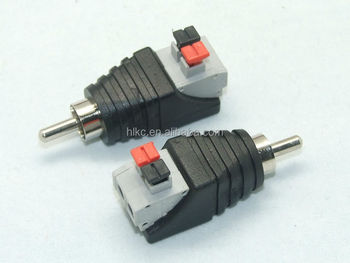 Rca Plug Rca To 2pin Spring Connector Cat5 Cat6 Cable To Av Phono Male Rca  Connector Jack Plug For Cctv - Buy Rca Plug,Rca Connector,Cctv Product on