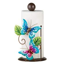 Butterfly Metal Wire Home Tissue Holder Paper Towel Napkin Holder