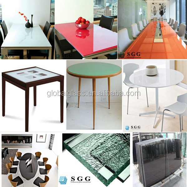 high quality computer table top with frosted glass table top