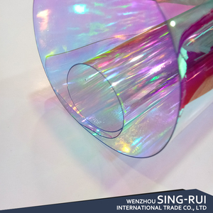 Iridescent vinyl PVC foil film for bags foe shoes leather fabric