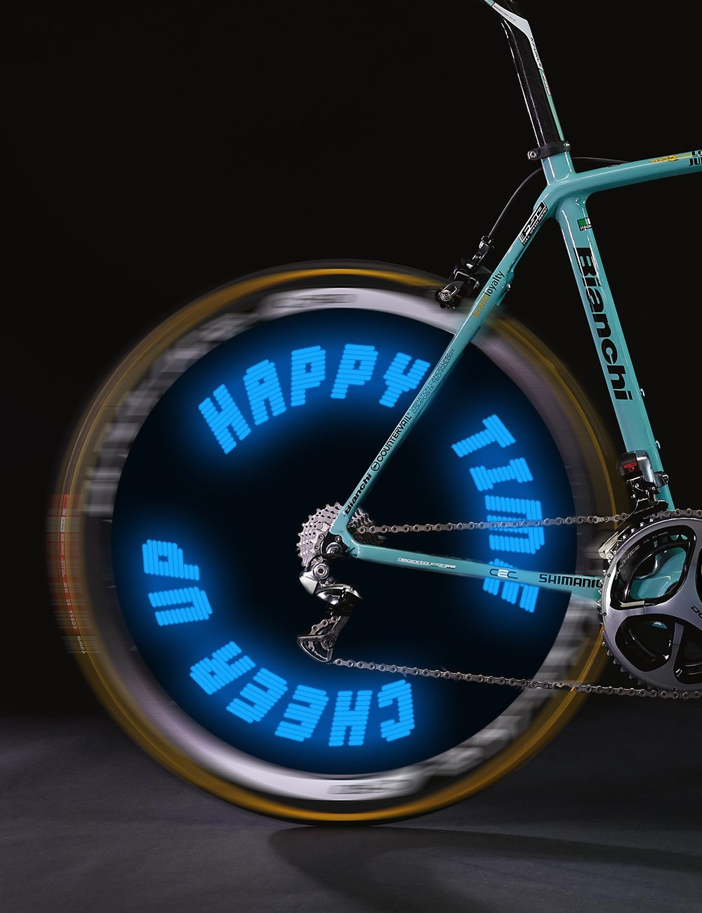 Get quotations · words and graph programmable bike wheel lights wireless custom messageultra bright led