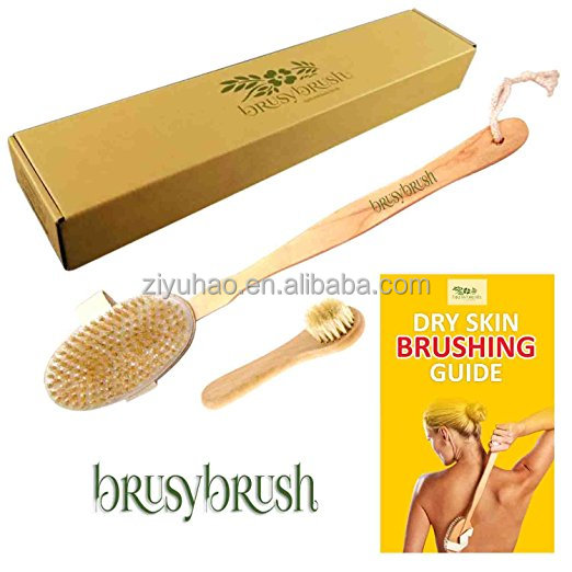 Bath Body Dry Brush Best for Lymphatic Drainage wash Toxin Away, Deep Cleansing, Scrub Your Back, Exfoliate, Cleanse, Detox.
