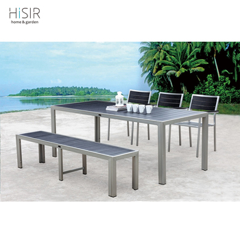 Good Garden Treasures Patio Furniture Company Supply Brushed Line Polywood Table  Chair Bench Nice Look