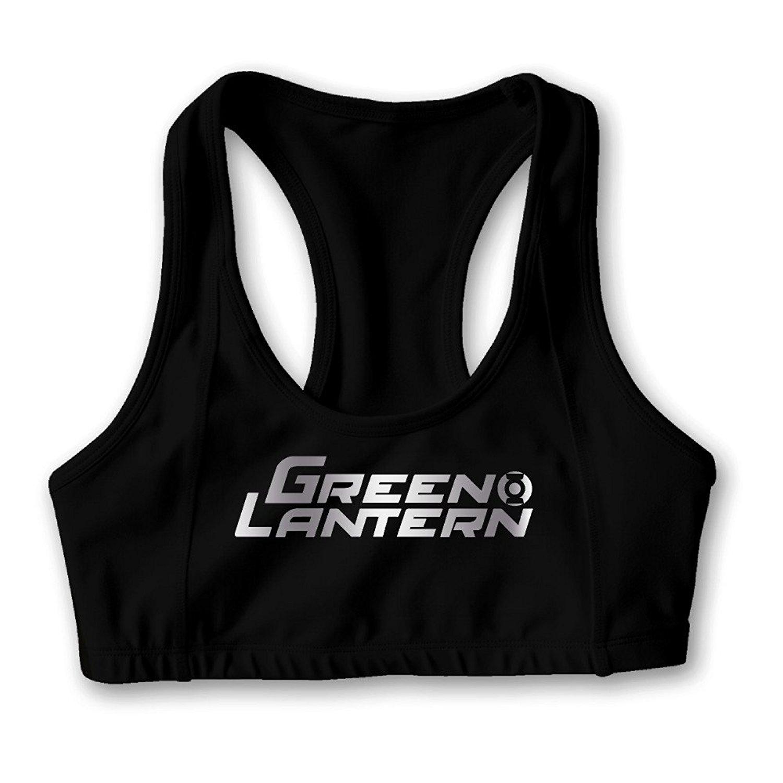 Green Lantern Platinum Logo Women's Oxjwn Yoga Sports Bra