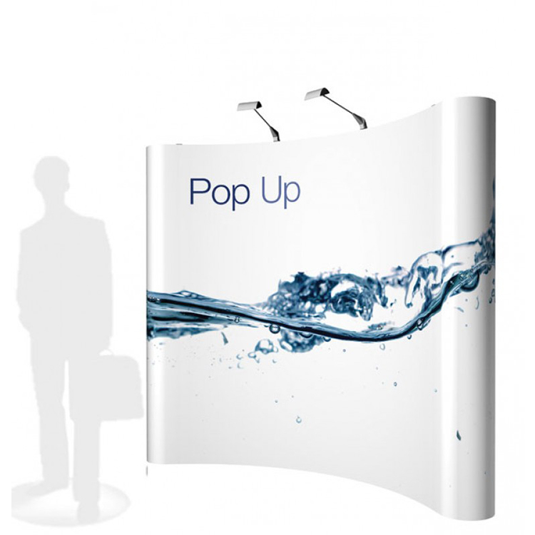 Magnetic Pop Up Display <strong>Stand</strong> Trade Show Backdrop Portable Banner Advertising <strong>Stands</strong>